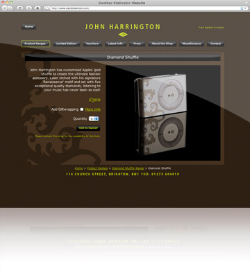 Kralinator Web Design - John Harrington Jewellery
