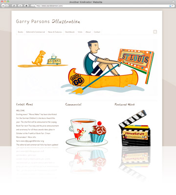Kralinator Web Design - Garry Parsons Illustration